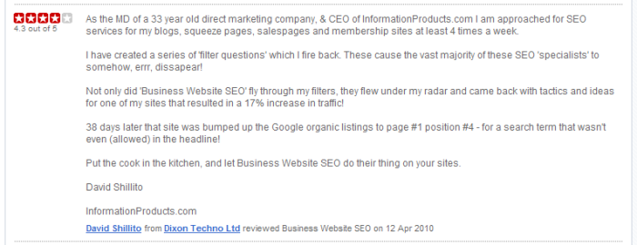 Business Website SEO Freeindex Recommendation Image