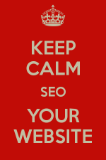 Keep Calm SEO Your Website Image