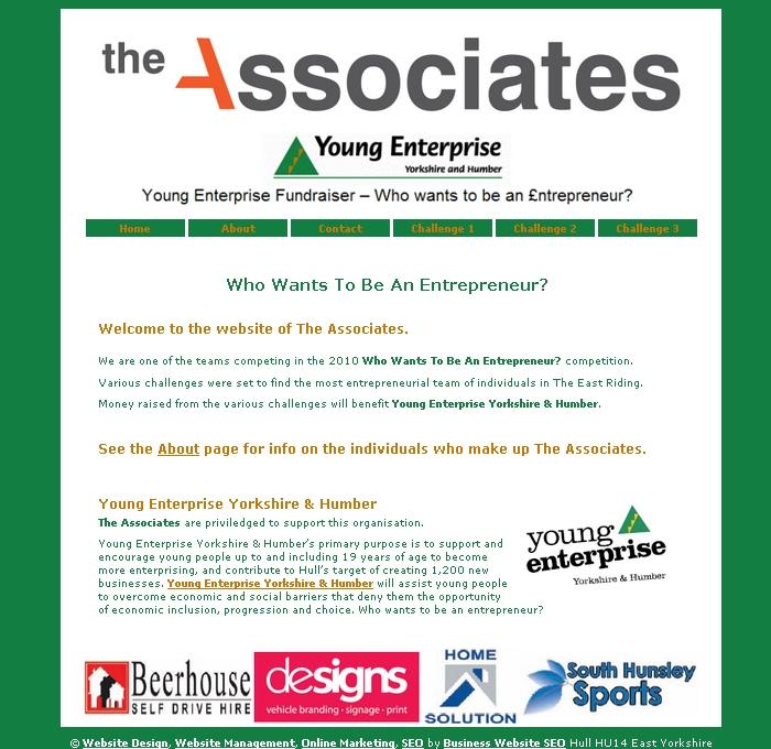 Business Website Seo The Associates Charity Fundraising Team Website